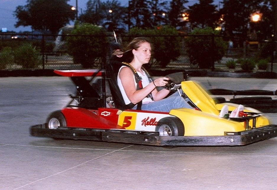 Sugar Grove Family Fun Center Go-Karts at Night
